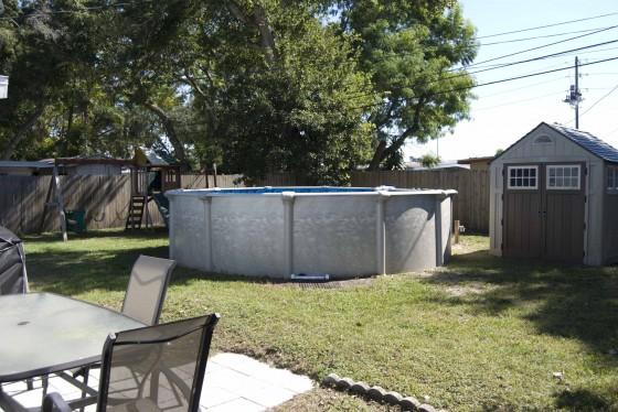 back yard small